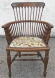 Quality Mahogany Spindleback Armchair